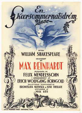 A Midsummer Night's Dream - 11 x 17 Movie Poster - German Style A
