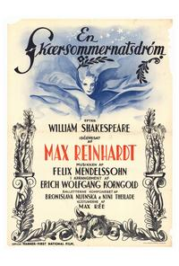 A Midsummer Night's Dream - 27 x 40 Movie Poster - German Style A
