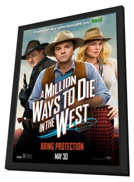 A Million Ways to Die in the West - 27 x 40 Movie Poster - Style A - in Deluxe Wood Frame