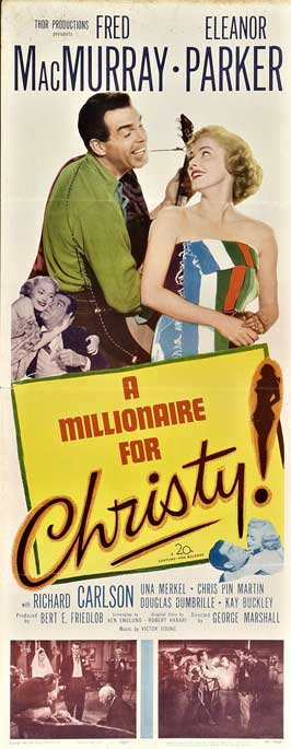 A Millionaire for Christy - 14 x 36 Movie Poster - Insert Style A