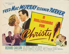 A Millionaire for Christy - 22 x 28 Movie Poster - Half Sheet Style B