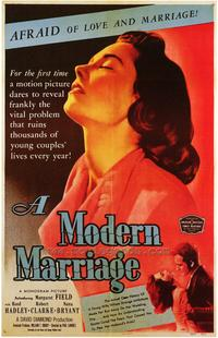 A Modern Marriage - 43 x 62 Movie Poster - Bus Shelter Style A