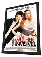 A Mulher Invisivel - 11 x 17 Movie Poster - Brazilian Style A - in Deluxe Wood Frame