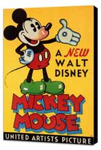 A New Walt Disney Mickey Mouse - 11 x 17 Movie Poster - Style B - Museum Wrapped Canvas