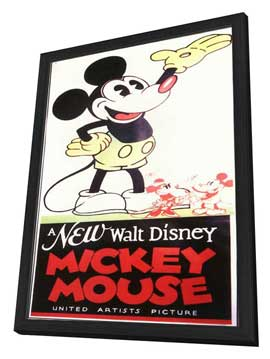 A New Walt Disney Mickey Mouse - 11 x 17 Movie Poster - Style A - in Deluxe Wood Frame