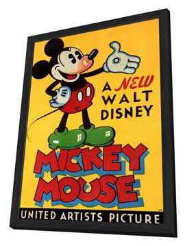 A New Walt Disney Mickey Mouse - 11 x 17 Movie Poster - Style B - in Deluxe Wood Frame