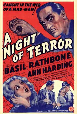 A Night of Terror - 27 x 40 Movie Poster - Style A