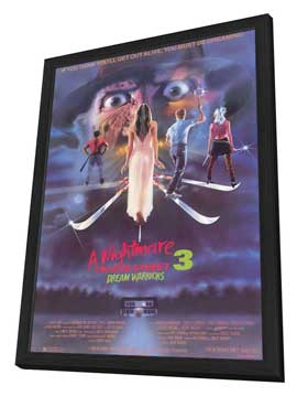 A Nightmare on Elm Street 3: Dream Warriors - 11 x 17 Movie Poster - Style A - in Deluxe Wood Frame