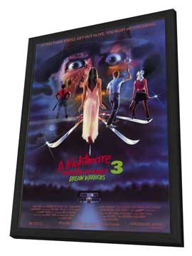 A Nightmare on Elm Street 3: Dream Warriors - 27 x 40 Movie Poster - Style A - in Deluxe Wood Frame