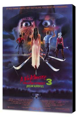 A Nightmare on Elm Street 3: Dream Warriors - 27 x 40 Movie Poster - Style A - Museum Wrapped Canvas