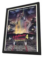 A Nightmare on Elm Street 4: Dream Master - 11 x 17 Movie Poster - Style A - in Deluxe Wood Frame