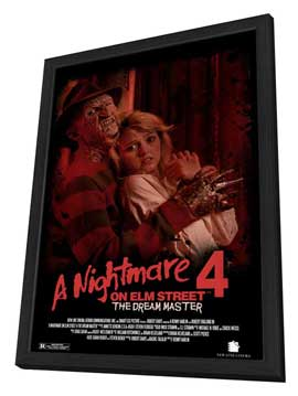 A Nightmare on Elm Street 4: Dream Master - 27 x 40 Movie Poster - Style B - in Deluxe Wood Frame