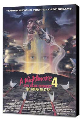 A Nightmare on Elm Street 4: Dream Master - 27 x 40 Movie Poster - Style A - Museum Wrapped Canvas