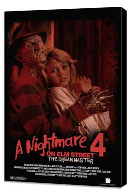 A Nightmare on Elm Street 4: Dream Master - 27 x 40 Movie Poster - Style B - Museum Wrapped Canvas