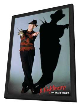 A Nightmare on Elm Street - 27 x 40 Movie Poster - Style B - in Deluxe Wood Frame