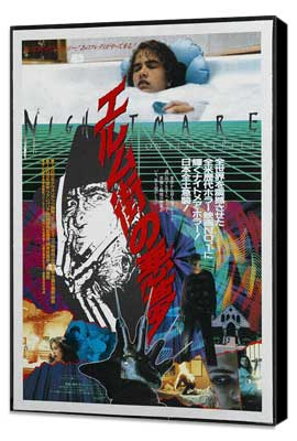 A Nightmare on Elm Street - 27 x 40 Movie Poster - Japanese Style A - Museum Wrapped Canvas