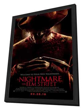 A Nightmare on Elm Street - 27 x 40 Movie Poster - Style A - in Deluxe Wood Frame