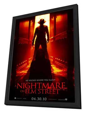 A Nightmare on Elm Street - 27 x 40 Movie Poster - Style C - in Deluxe Wood Frame