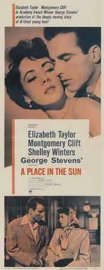 A Place in the Sun - 14 x 36 Movie Poster - Insert Style B