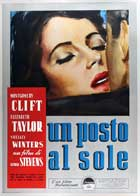 A Place in the Sun - 27 x 40 Movie Poster - Italian Style A