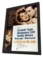 A Place in the Sun - 11 x 17 Movie Poster - Style A - in Deluxe Wood Frame