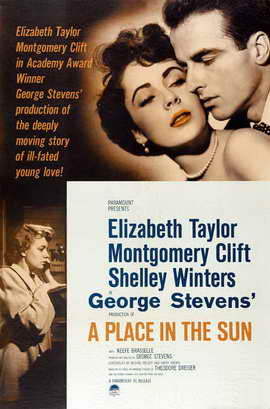 A Place in the Sun - 27 x 40 Movie Poster - Style A