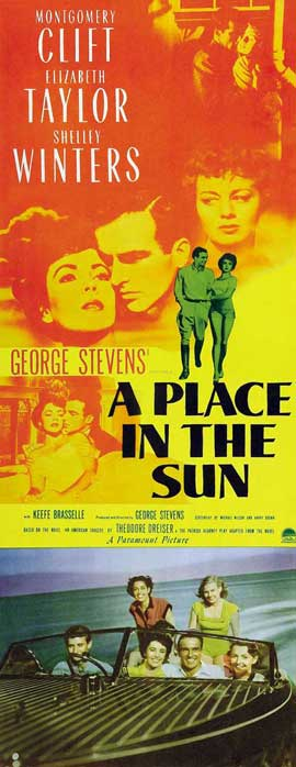 A Place in the Sun - 14 x 36 Movie Poster - Insert Style A