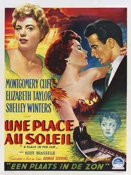A Place in the Sun - 11 x 17 Movie Poster - Belgian Style A