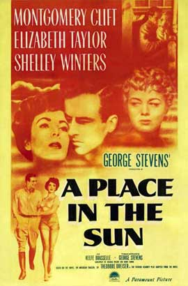 A Place in the Sun - 11 x 17 Movie Poster - Style B