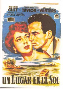 A Place in the Sun - 11 x 17 Movie Poster - Spanish Style A