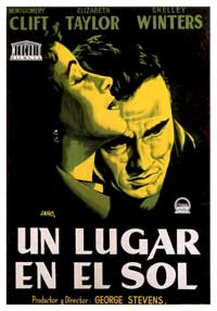 A Place in the Sun - 27 x 40 Movie Poster - Spanish Style A