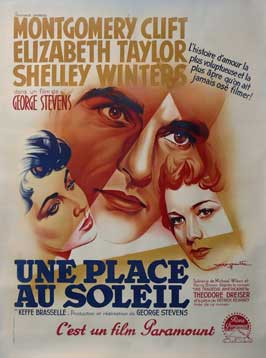 A Place in the Sun - 11 x 17 Movie Poster - French Style B