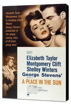 A Place in the Sun - 11 x 17 Movie Poster - Style A - Museum Wrapped Canvas