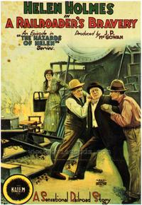 A Railroader's Bravery - 43 x 62 Movie Poster - Bus Shelter Style A