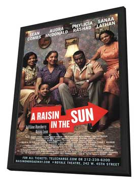 A Raisin In The Sun (Broadway) - 11 x 17 Poster - Style A - in Deluxe Wood Frame