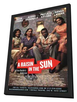 A Raisin In The Sun (Broadway) - 27 x 40 Poster - Style A - in Deluxe Wood Frame