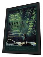 A River Runs Through It - 27 x 40 Movie Poster - Style B - in Deluxe Wood Frame