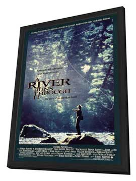 A River Runs Through It - 11 x 17 Movie Poster - Style B - in Deluxe Wood Frame