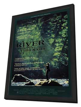 A River Runs Through It - 11 x 17 Movie Poster - Style C - in Deluxe Wood Frame