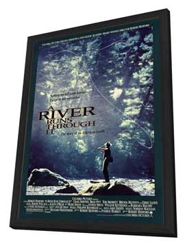 A River Runs Through It - 27 x 40 Movie Poster - Style C - in Deluxe Wood Frame