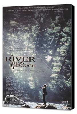 A River Runs Through It - 11 x 17 Movie Poster - Style A - Museum Wrapped Canvas