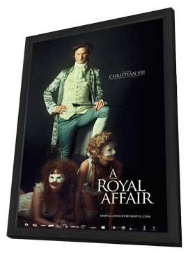 A Royal Affair - 27 x 40 Movie Poster - Style B - in Deluxe Wood Frame