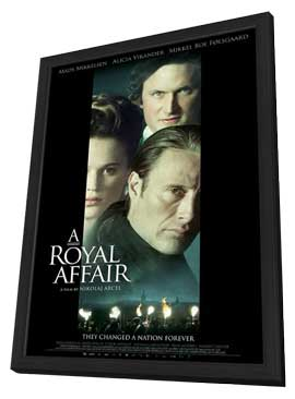 A Royal Affair - 27 x 40 Movie Poster - Style C - in Deluxe Wood Frame