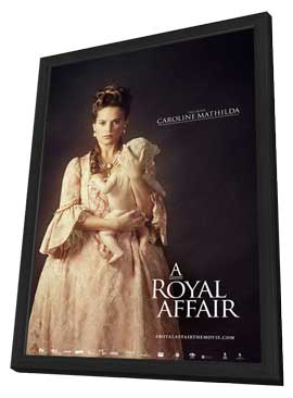 A Royal Affair - 27 x 40 Movie Poster - Style D - in Deluxe Wood Frame