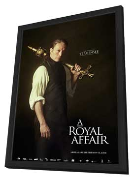 A Royal Affair - 27 x 40 Movie Poster - Style E - in Deluxe Wood Frame