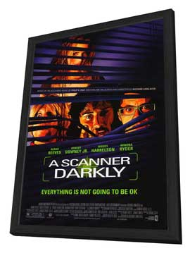 A Scanner Darkly - 27 x 40 Movie Poster - Style A - in Deluxe Wood Frame