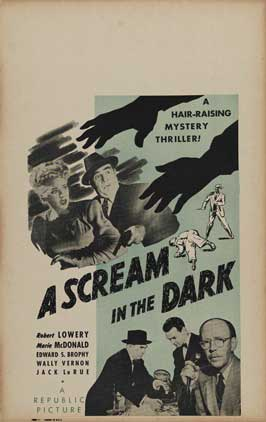 A Scream in the Dark - 27 x 40 Movie Poster - Style A