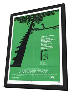A Separate Peace - 27 x 40 Movie Poster - Style A - in Deluxe Wood Frame