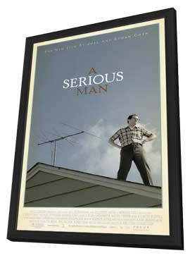A Serious Man - 27 x 40 Movie Poster - Style A - in Deluxe Wood Frame