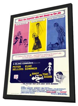 A Shot in the Dark - 11 x 17 Movie Poster - Style A - in Deluxe Wood Frame
